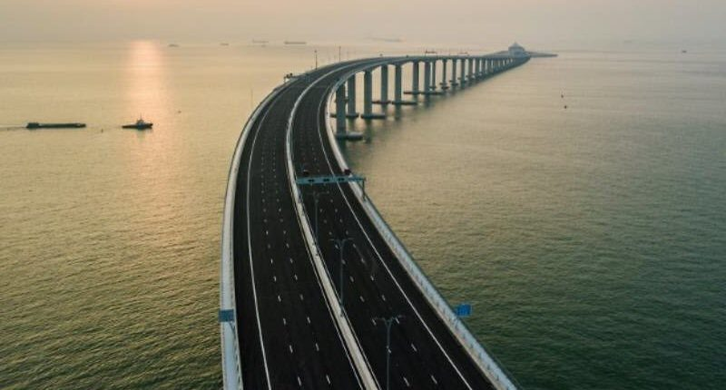 The 55km crossing links Hong Kong with the southern mainland city of Zhuhai and the gambling enclave of Macau - Logistics Institute of Singapore (LIS)