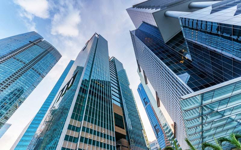 Skyscrapers in Marina Bay Singapore - Logistics Institute of Singapore (LIS)
